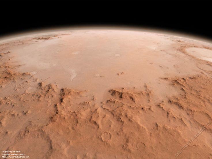 Equipe da Universidade de Cornell recomenda que a Planície Argyre seja prioridade nas missões enviadas ao Planeta Vermelho
