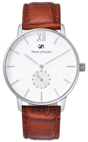 The beautiful Crown Collection is made of premium materials. With a case made of stainless steel, wristband of authentic leather and glass of of sapphire crystal, it is the perfect watch to wear for every occasion.