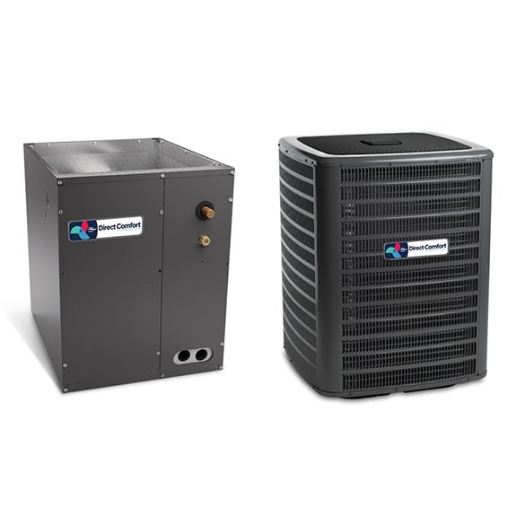 3 5 Ton Direct Comfort Dc Gsx160421 14 5 Seer Condenser Gsx160421 And Cased Coil Capf3743c6 Upflow Downflow In 2020 Heating And Cooling Adding Central Air Central Air