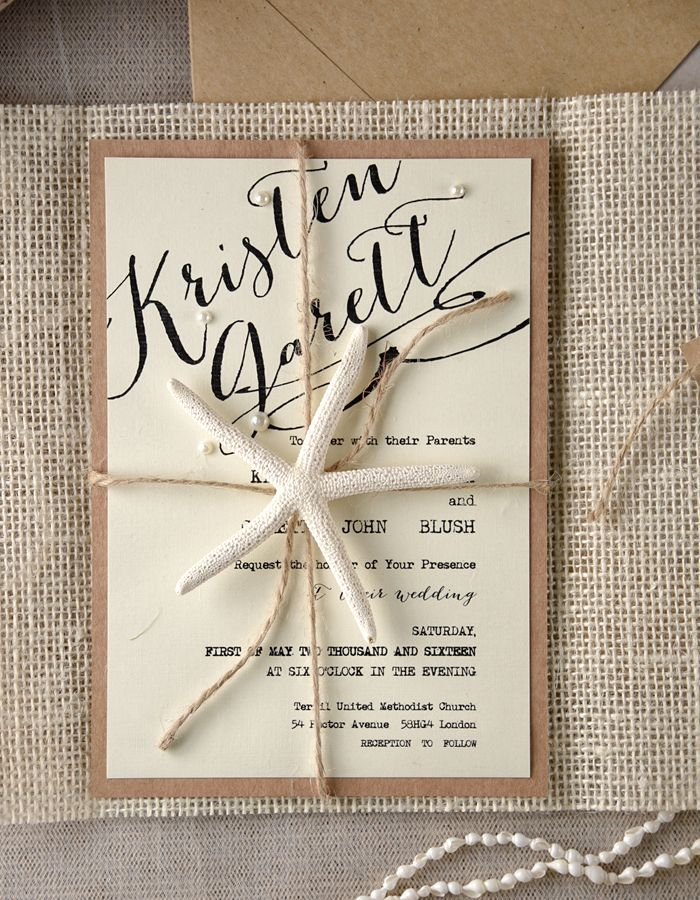 Beach Rustic Wedding Invitations From