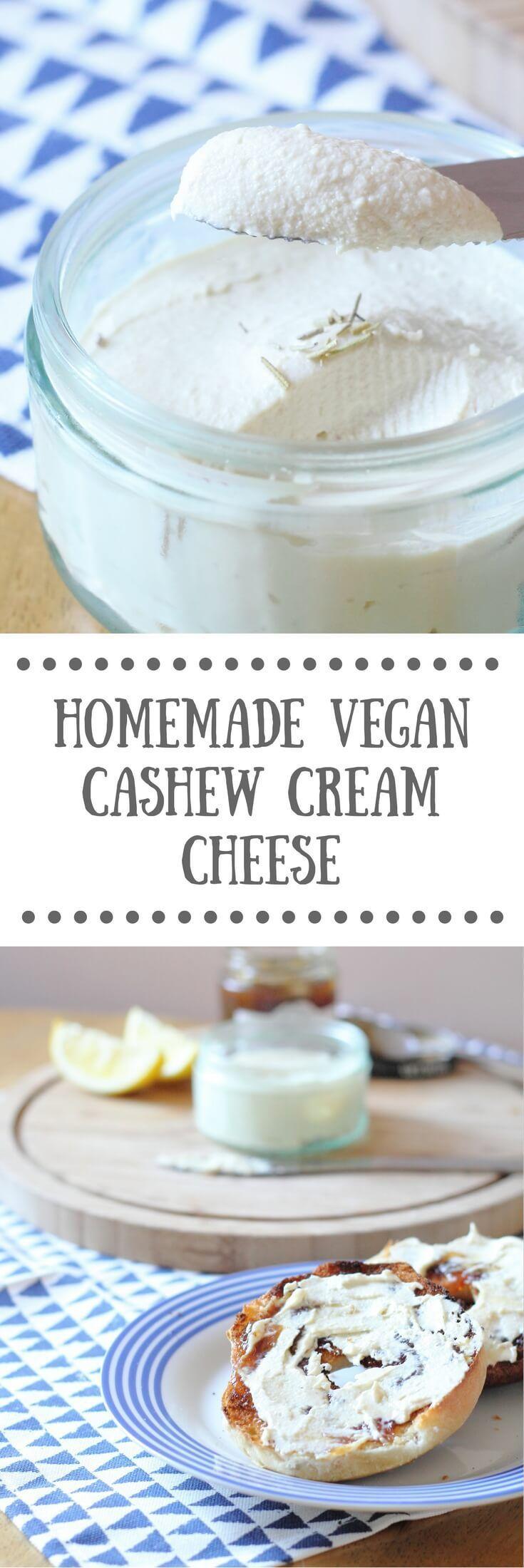 Homemade Vegan Cashew Cream Cheese - Vegan Recipe                                                                                                                                                                                 More