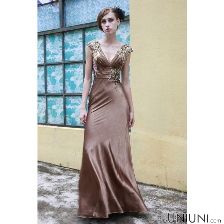 coniefox coffee embroidered formal dress wwwtheuniunicom