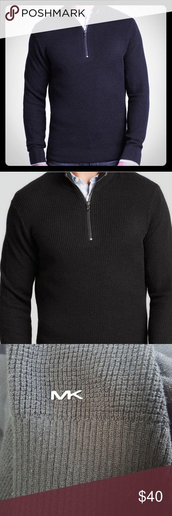 Michael Kors Half Zip Sweater {NWT} Michael Kors Half Zip Sweater *luxurious, classic style *100% cotton *MK logo at bottom front *Retails $99  *Men's size L  *NWT** Michael Kors Sweaters