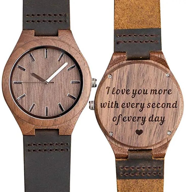 Best Men Gift for this Christmas- Personalized Engraved Wooden Watch
