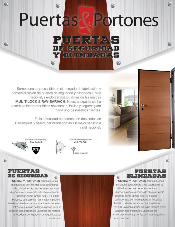 Ficha técnica. Puertas de seguridad y blindadas. Cliente: Puertas & Portones.