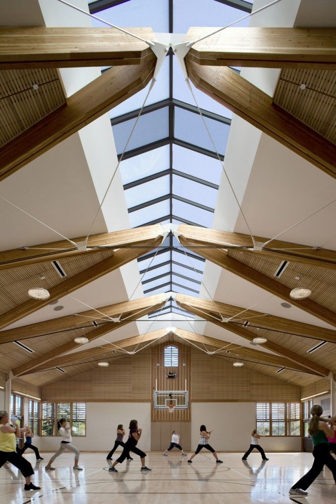 Great roof deisgn allowing natural ligth through - good use of timber for acoustics - east grinstead - http://www.jubileecommunitycentre.co.uk/