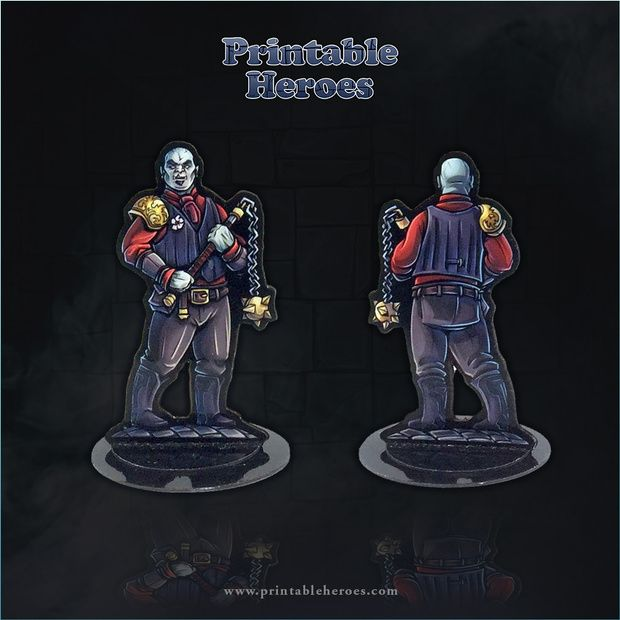 picture about Printable Heroes Patreon titled PrintableHeroes is building Paper Miniatures within just 2019
