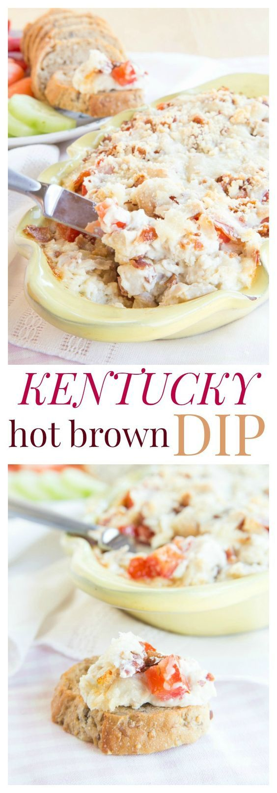 Kentucky Hot Brown Dip  - filled with turkey, bacon and cheese, this hot dip takes the best part of the classic Southern sandwich and transforms it into a gooey appetizer. | cupcakesandkalechips.com | gluten free recipe