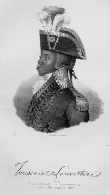 Profile of the leader of the slave revolt in St. Domingue, Haiti, early 19th century. Despite a variety of images of Toussaint L'Ouverture, none were actually drawn from life