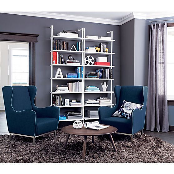 Stairway 96 Wall Mounted Bookcase In Office Furniture