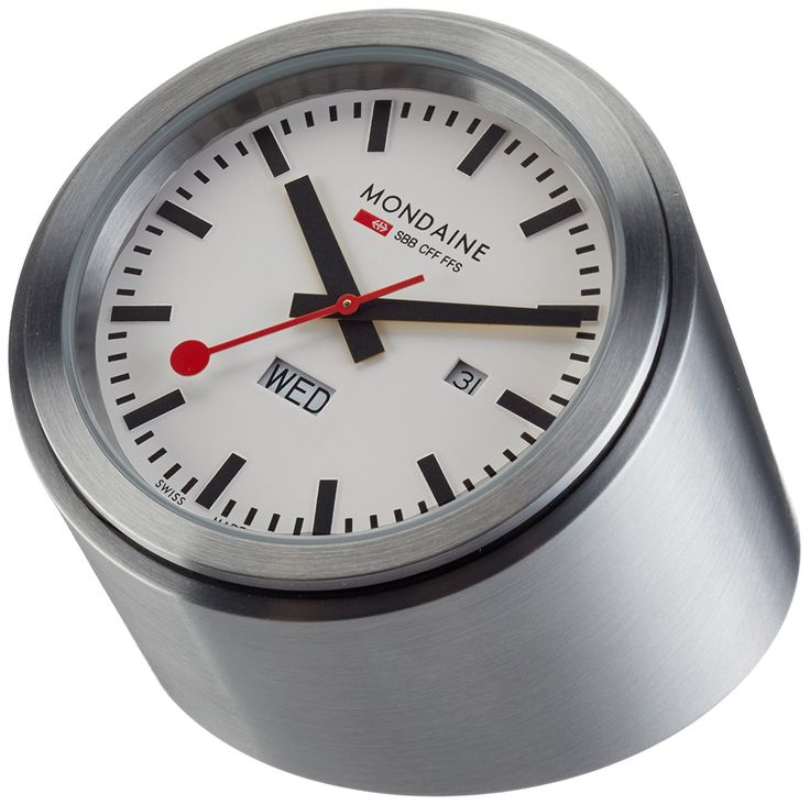 Mondaine A667.TUBE.80SBB Desk Clock White Dial Tube Case >>> Haven't you heard that you can find more discounts at this image link : Home Decor Clocks