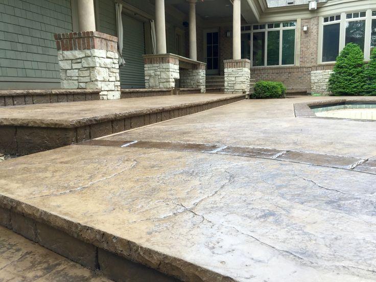 Attractive Stamped Concrete Pool Deck With Custom Chiseled Stone Cantilevered Coping  By Sierra Concrete Arts. BetonbeckenBeton KunstStampfbetonDekorativer ...