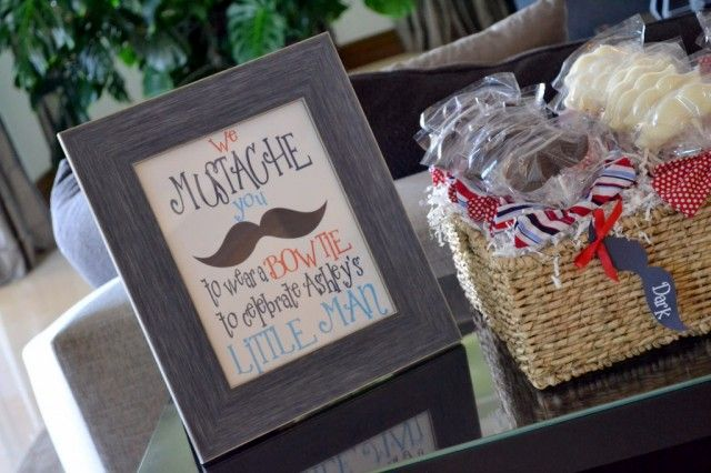 mustache baby shower decor ideas for a baby boy