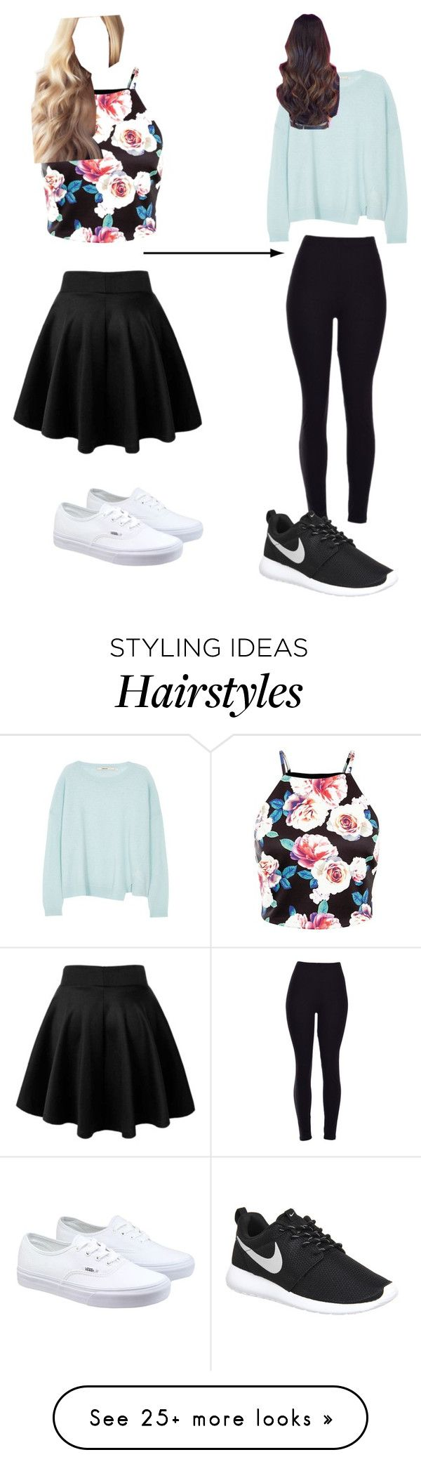 """Girly By Day, Tomboy By Night"" by agg-72104 on Polyvore featuring J Brand, Vans, NIKE, women's clothing, women's fashion, women, female, woman, misses and juniors"