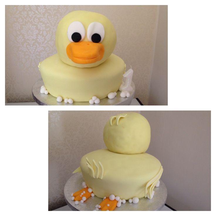 Lorna's first birthday  duck cake