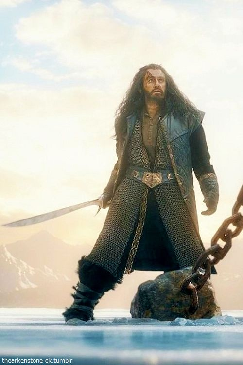 Thorin 's battle outfit. Love the chainmail.