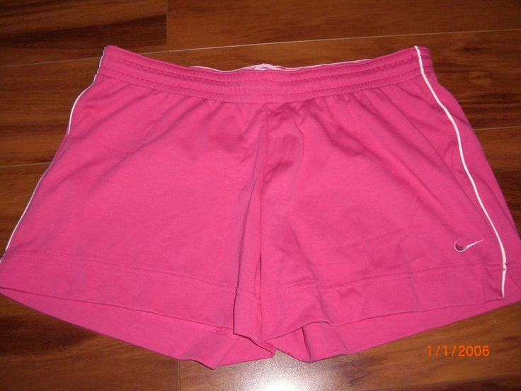 Nike Women's Pink Shorts With Drawstring Size L #Nike #Shorts