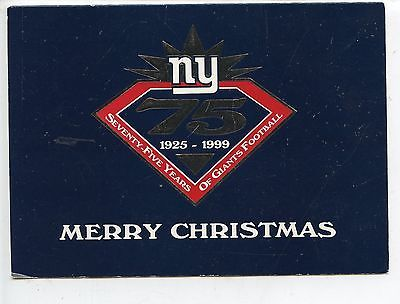 1999 New York Giants NFL Football Christmas Card Signed By Wellington Mara