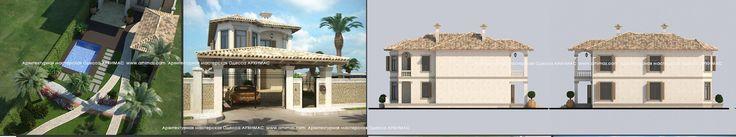Красивые проекты загородных домов Средиземноморский стиль Одесса Архимас