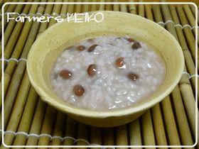 【農家のレシピ】小豆粥