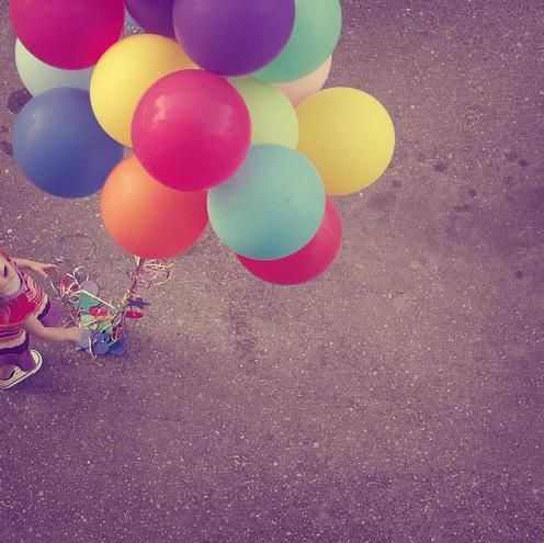 One day I will have my bunch of colourful balloons