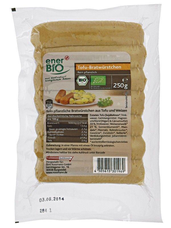 enerBio Tofu kolbászkák - 250 g a Rossmann Webáruházban