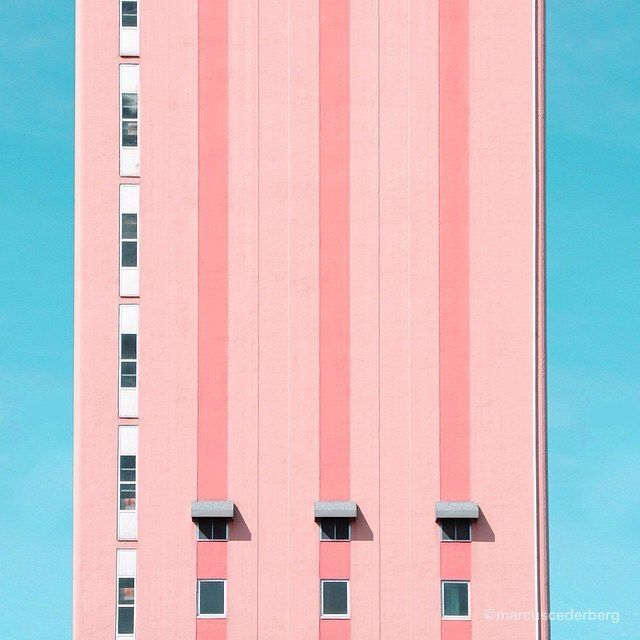 We fell in love with @marcuscederberg and his candy-toned submission #art #photographer #urban #city #minimal #pink #candy #pastel #architecture #love #design