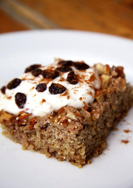 Gluten-Free Apple Cinnamon Quinoa Breakfast Bake