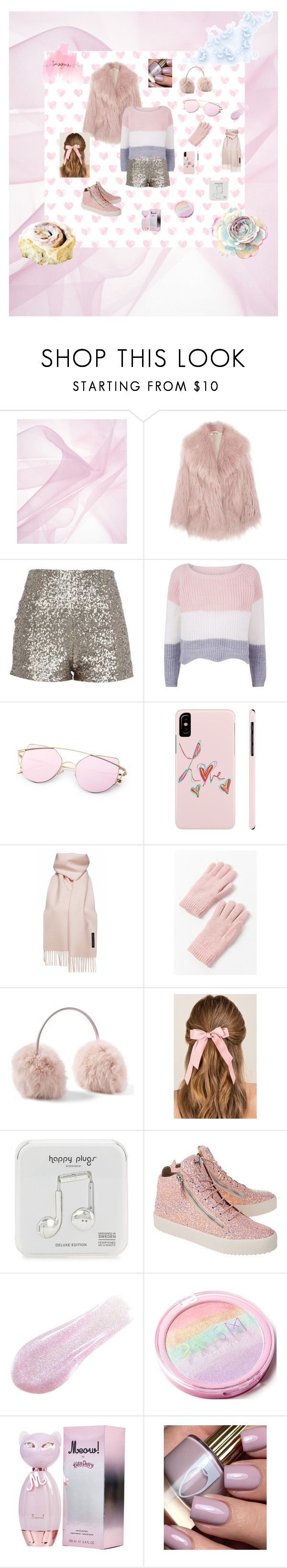 """pink winter perfection"" by caroline-rose-kernan ❤ liked on Polyvore featuring Miu Miu, Urban Outfitters, Francesca's, Happy Plugs, Giuseppe Zanotti, Lipstick Queen, TEM, fur, winterfashion and winterstyle"