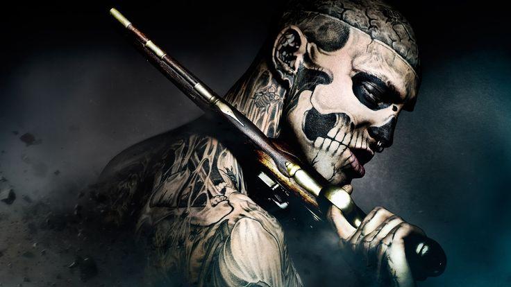обои 2560x1440 фрик, 47 ronin, кино, freak, парень, татуировки, пистолет