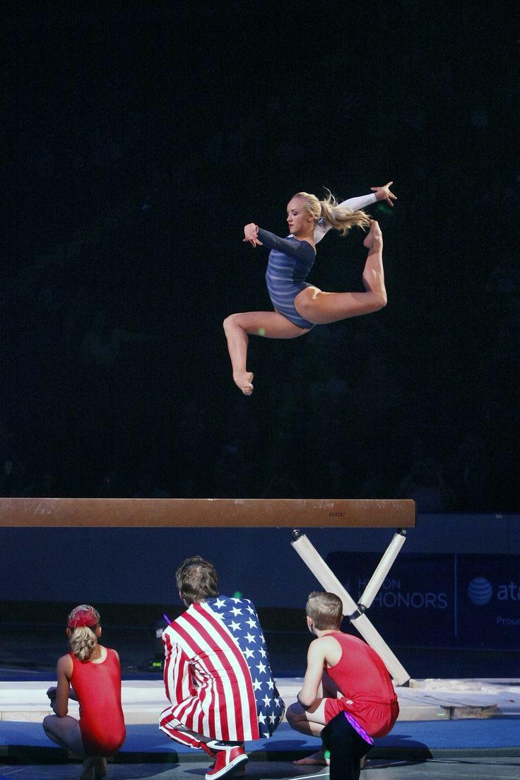 Nastia Liukin performs on the beam during Kellogg's Tour Of Gymnastics Champions at the Maverik Center in West Valley City on Thursday, Sept. 27, 2012. (Chris Detrick  |  The Salt Lake Tribune)