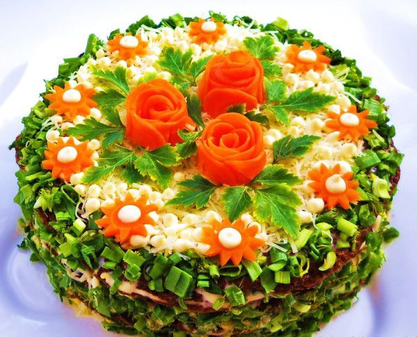 Праздничные салаты и закуски - Food Art-15. Праздничные салаты, украшение салатов