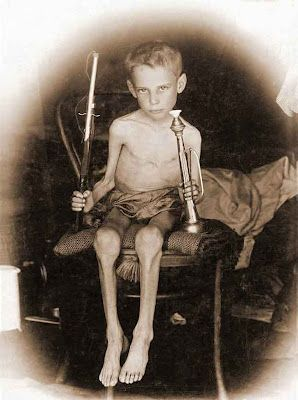 A boer child, Abraham Carel Wessels in a concentration camp during the Anglo Boer War