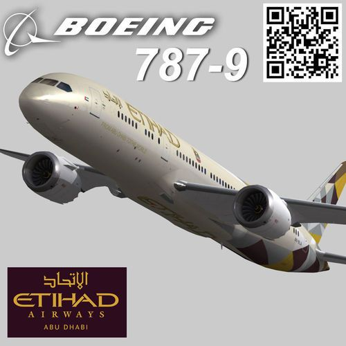 Boeing 787-9 Etihad airways livery