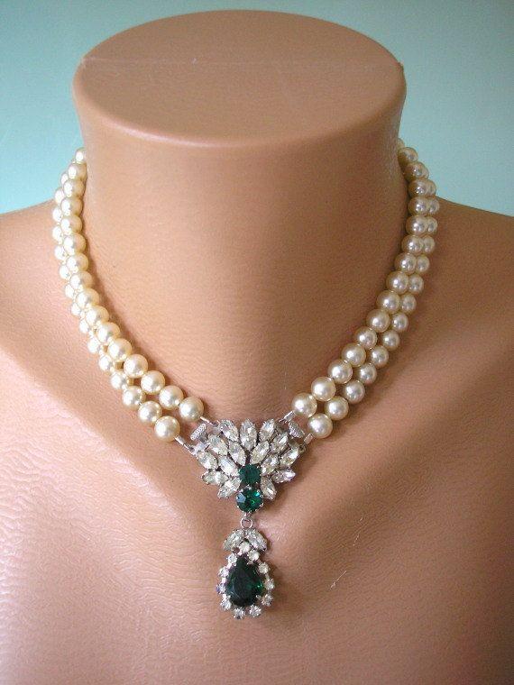 Art Deco Jewelry Great Gatsby Jewelry by CrystalPearlJewelry, $117.00