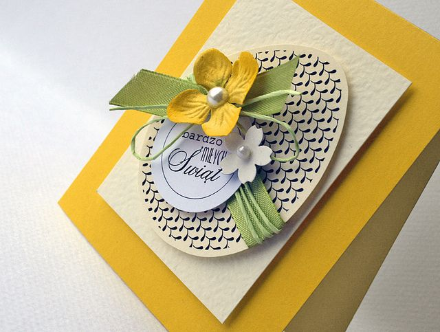 Card Making Ideas Easter Part - 34: Homemade Beautiful And Creative Easter Cards Yellow Egg Flowers