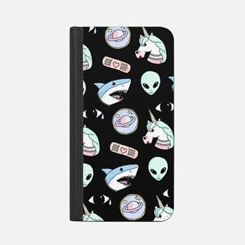 iPhone Wallet Case -  space oddity