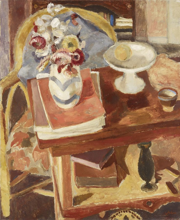 Tabletop Still Life with Books, 1946 by Sir William Gillies (Scottish 1898–1973)