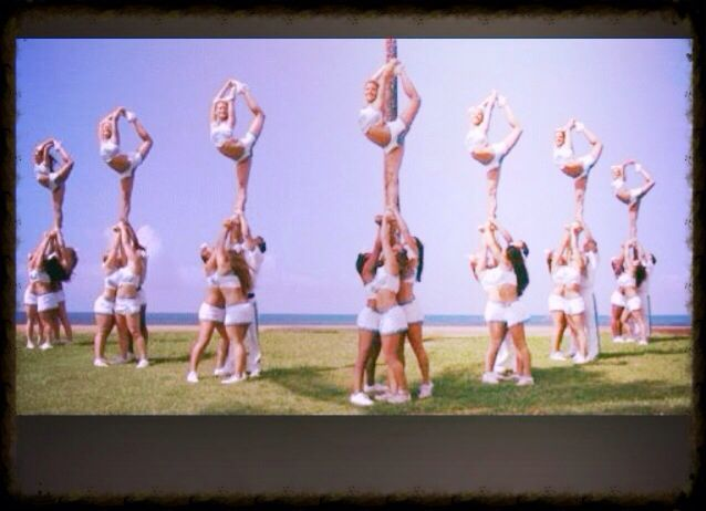A cool cheer stunt