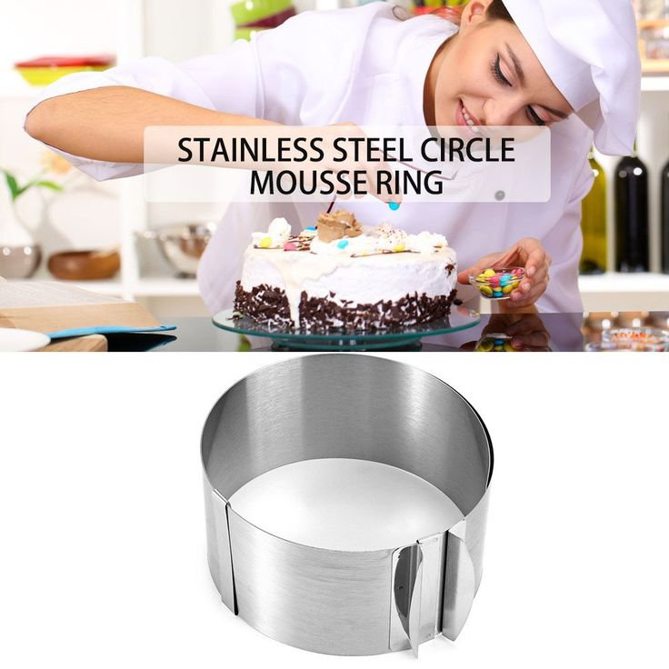 New Arrival Hot Sale Retractable Stainless Steel Circle Mousse Ring Baking Tool Set Cake Mold Size Adjustable