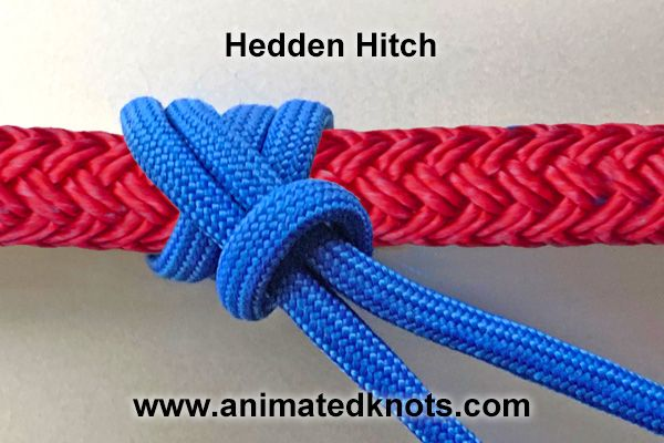 The Hedden Hitch A K A The Kreuzklem Or Hedden Knot Is Often