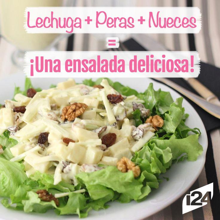 Deliciosa opción para una cena ligera #Cena #Ensalada #Peras #Receta #Light