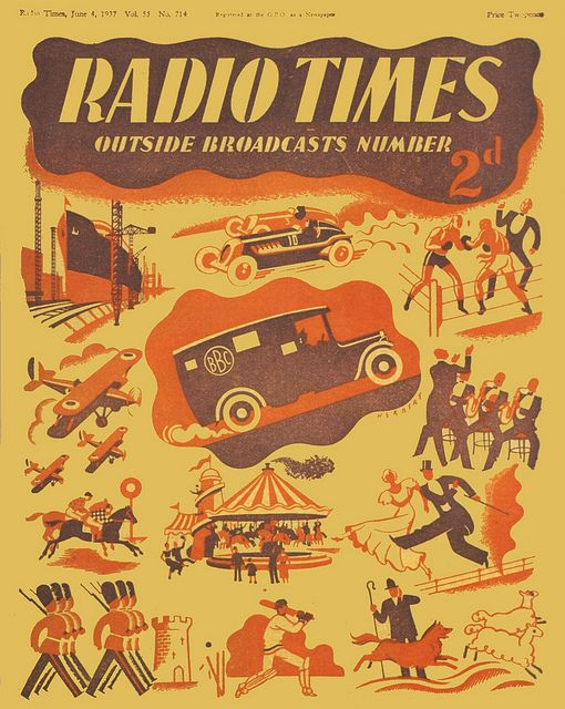 Radio Times Cover 1937-06-04 Outside Broadcast by Stanley Herbert