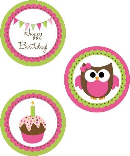 Kit gratis para baby shower de buhos - Imagui