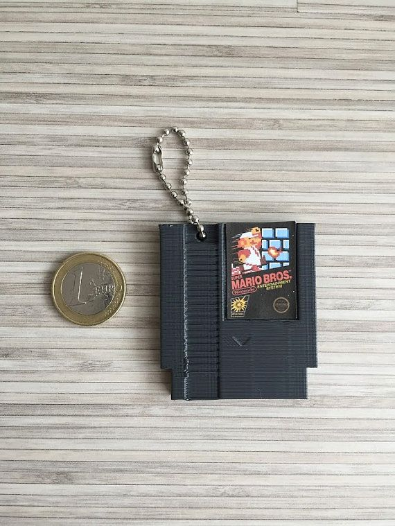 NES cartridge keychain Super Mario Duck Hunt Metroid by PapaGeek