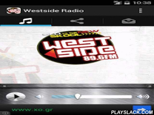 Westside Radio 89.6FM  Android App - playslack.com ,  Westside 89.6FM is West London's number one youth radio station playing the best in Hip Hop, RnB, House, Chart, Grime, Garage, DnB, Afrobeats and Desi Beats. The station also carries community based programming aimed at young listeners.Created by: 3ds web - looksomething.com Westside 89.6FM is West-Londen nummer een jeugd radiostation spelen van de beste Hip Hop, RnB, House, Chart, Grime, Garage, DnB, Afrobeats en Desi Beats. Het station…