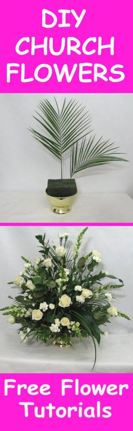 Church Wedding Flowers - Easy DIY Flower Tutorials  Learn how to make bridal bouquets, wedding corsages, groom boutonnieres, reception table centerpieces and church flowers and decorations. Buy wholesale fresh flowers and discount florist supplies.