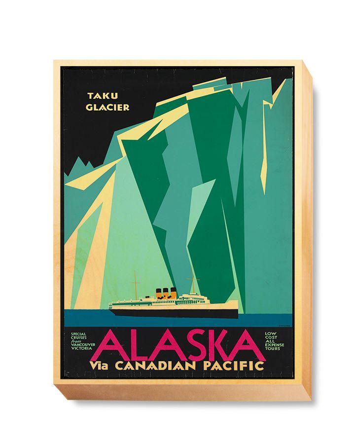 TRV 057 Travel Art Alaska Glacier