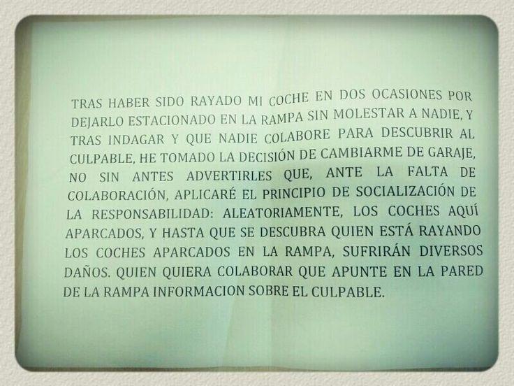"""@hematocritico al loro lo encontrado en  garaje de unos colegas #dramaenelportal.  """"Ppio de socialización"""", dice..."""