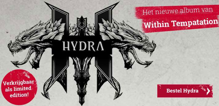 Eindelijk! Het door fans langverwachte zesde studio album van #WithinTemptation #Hydra . Met gastartiesten: de Finse Metal Diva Tarja, Dave Pirner van Soul Asylum, de metalcore legende Howard Jones (ex-Killswitch Engage) en de Amerikaanse hip-hop icoon Xzibit.  Het album is bij ons verkrijgbaar in verschillende versies, met o.a. een sleutelhanger, op vinyl of als limited edition boxset.